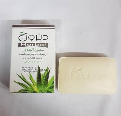 صابون مرطوب کننده و ترمیم کننده آلوئه ورا دیترون حاوی ترکیبات گیاهی