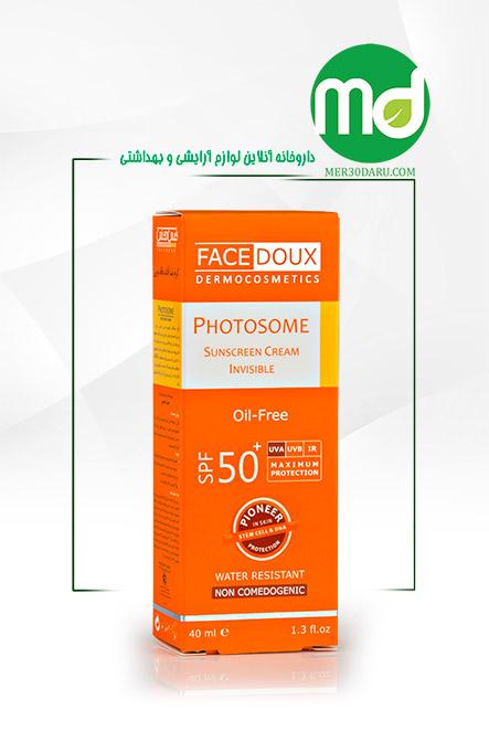 کرم ضد آفتاب بدون رنگ فیس دوکس spf 50