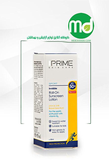 لوسیون ضد آفتاب رول آن پریم بدون رنگ SPF 50