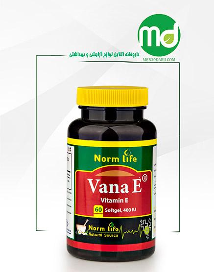 کپسول ژلاتینی ویتامین E نورم لایف 60 عددی